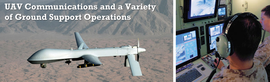 UAV Communications and a Variety of Ground Support Operations